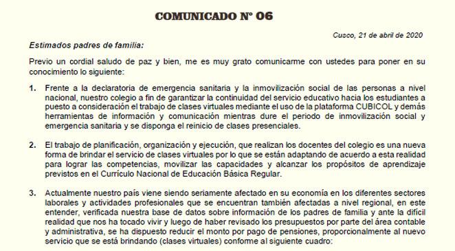 Comunicado N°06