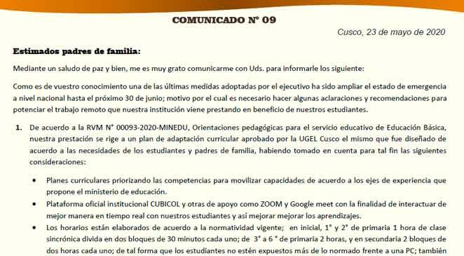 Comunicado 09